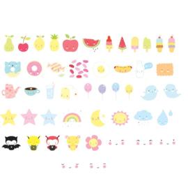 Letterset lightbox - Kawaii