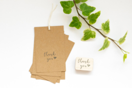 Stempel Thank You hartje Studio Maas