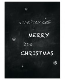 Postkaart Have yourself a Merry little Christmas - set