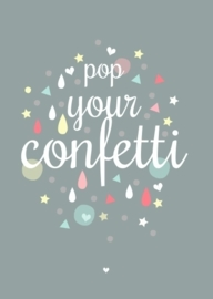 Postkaart Pop Your Confetti
