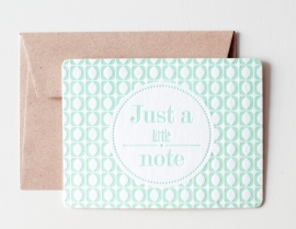 Just a little note - Letterpress mint green