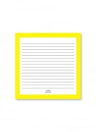 Notepad Square Yellow