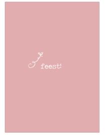 Kaart feest roze
