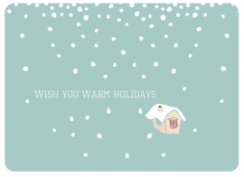 Christmas Card Warm Holidays