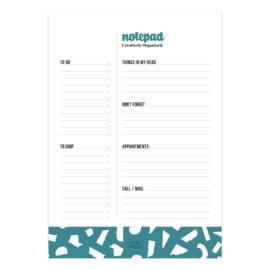 A5 Notepad Creatively Organized Petrol