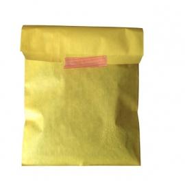 Sunny Yellow kraft zakje 17x25cm