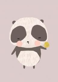 Vicky Riley | Ansichtkaart Panda