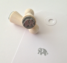 Mini stempel - Olifantje