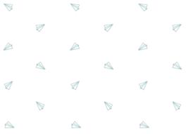 Behangpapier Blue paper plane