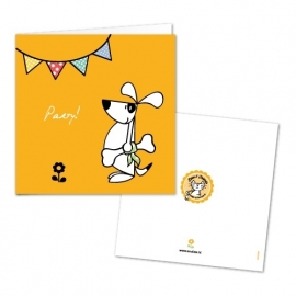 Greeting Card - Party Dog