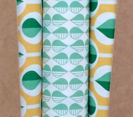 Wrapping sheets - Green & Yellow