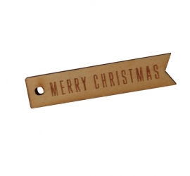 Houten Tag - Merry Christmas
