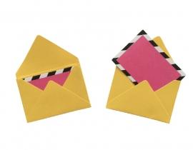 Mini envelopjes - Geel .12