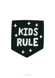 POSTER A4 KIDS RULE