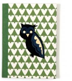 Notebook Owls in Woods