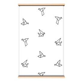 Behangpapier Origami birds