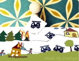 Mini Stempel - Brandweerauto