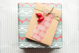 Wrapping sheets - Red & Green