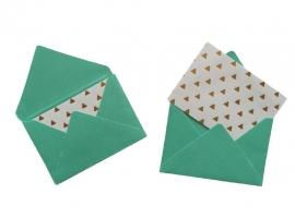 Mini envelope - Turquiose.17