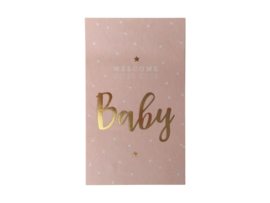 Stickers Baby Goldfoil Pink