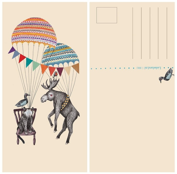 Postkaart Feestje Parachute