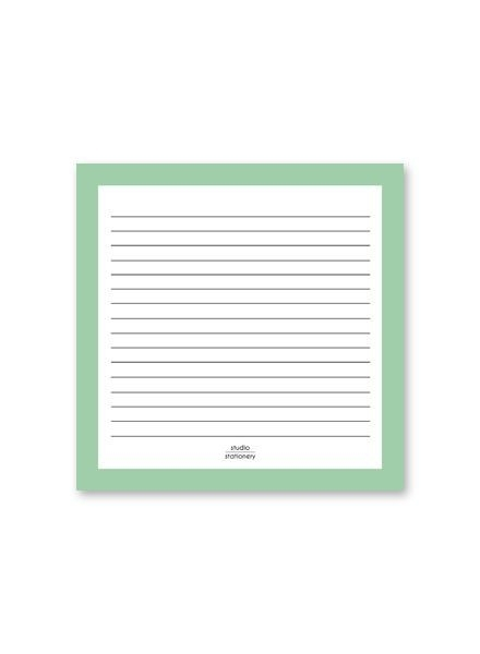 Notepad Square Mint