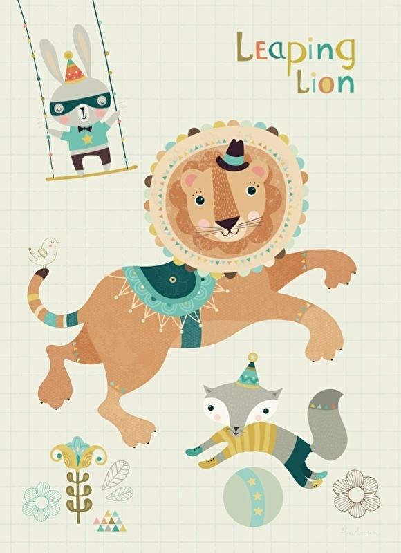 Bee Brown | Card Leaping Lion