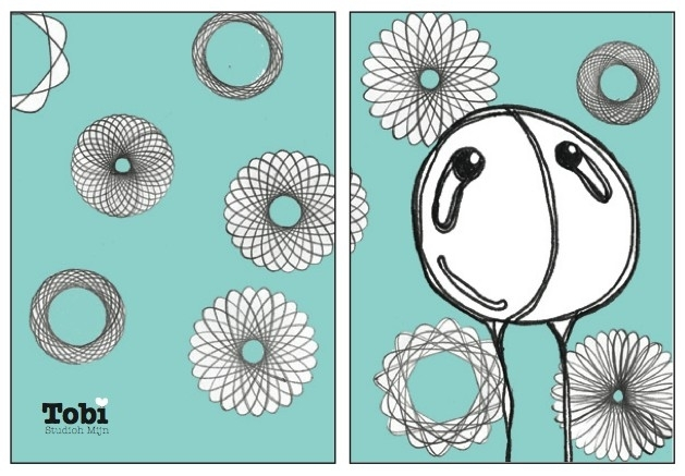 Zomaar Tobi Spirograph - Babyblauw