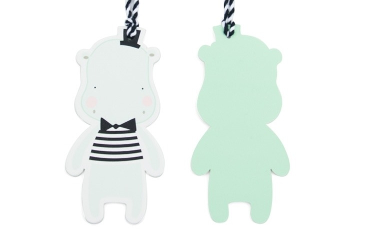 Paper Tags Hippo
