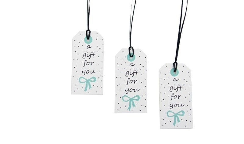 Paper Tags Sparkling Paper A Gift For You