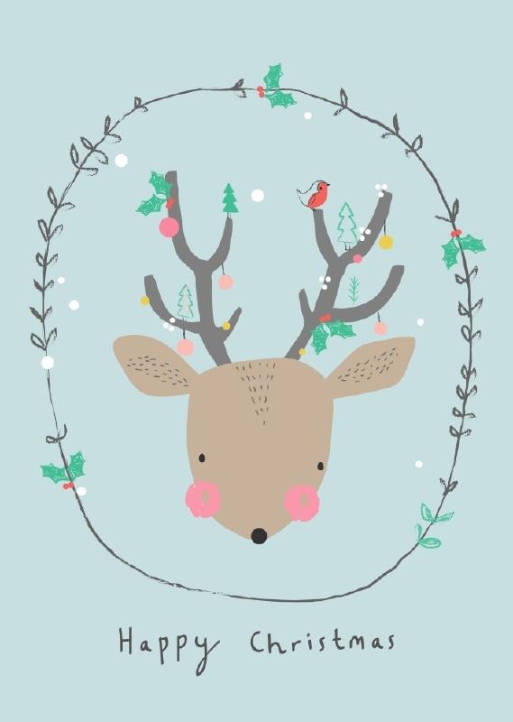 Happy Christmas Deer PL