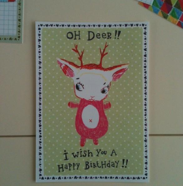 Postcard Oh deer!