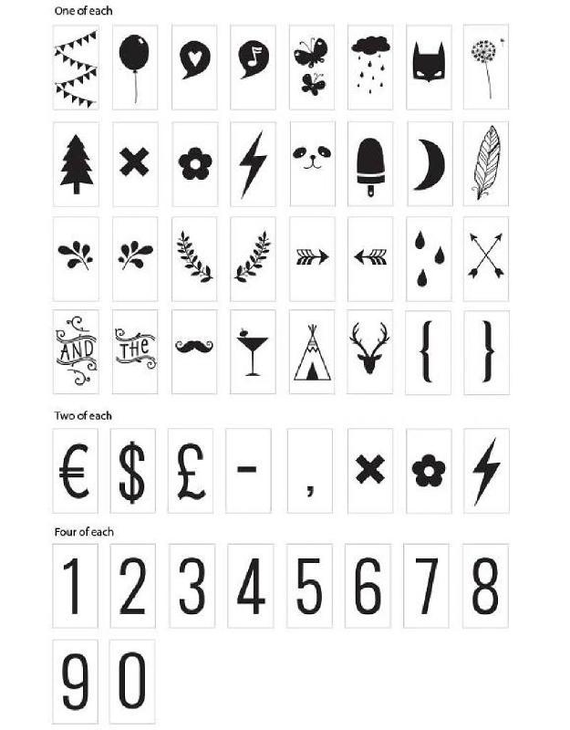 Symbols set Lightbox