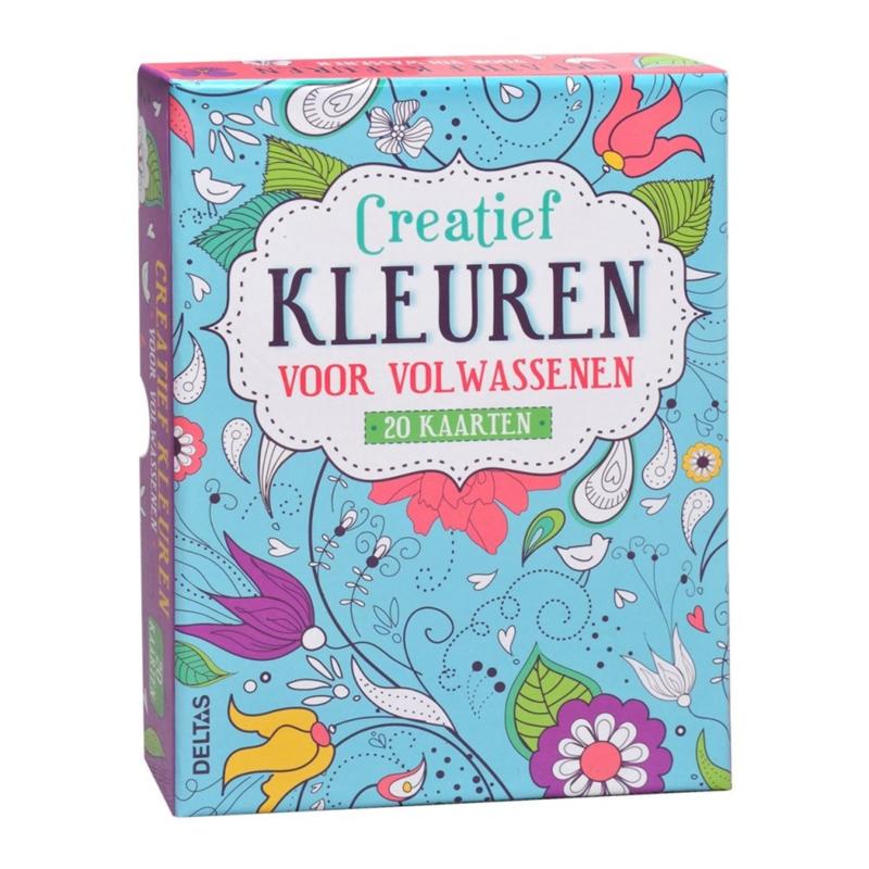 Creatief kleuren voor volwassenen - 20 kaarten