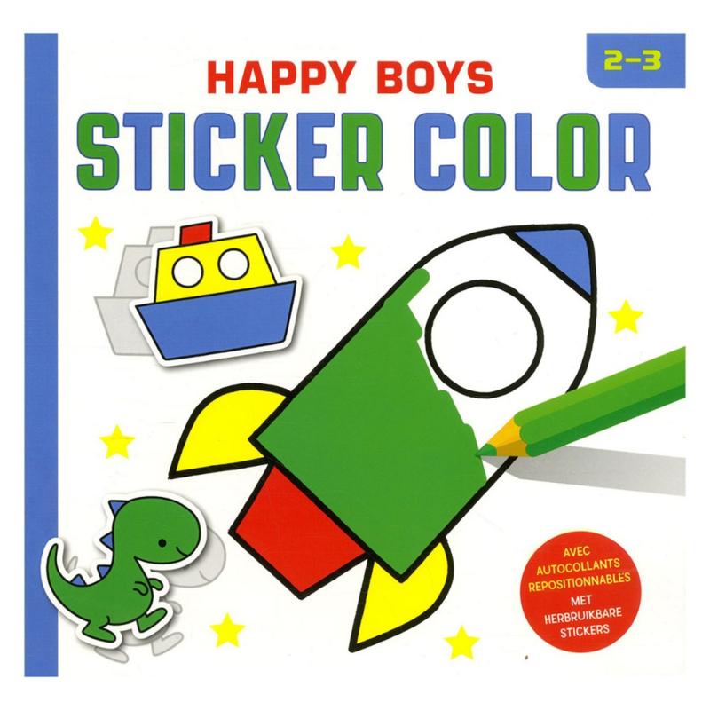 Happy Boys Sticker Color - 2 tot 3 jaar