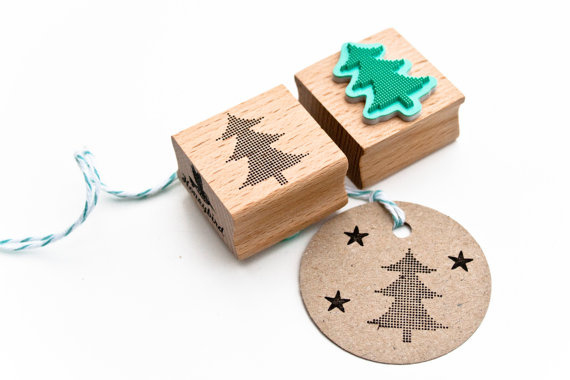 Stempel Kerstboom stippen