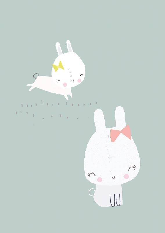 Vicky Riley | Ansichtkaart Bunnies