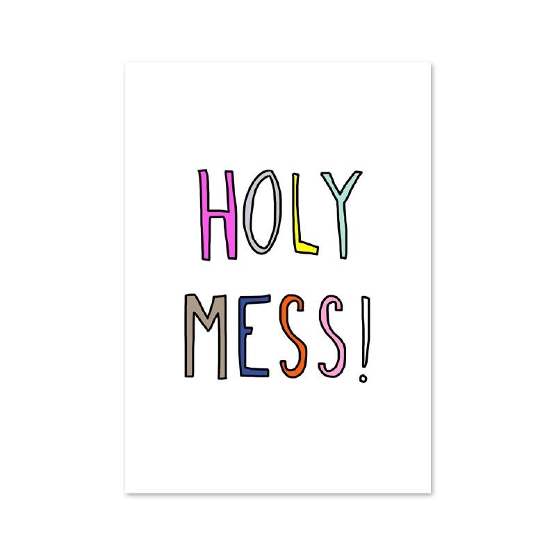 Postcard Beautiful chaos - Holy Mess!