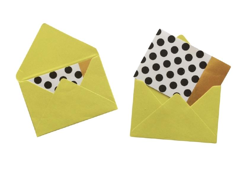 Mini envelopjes - Licht groen .16
