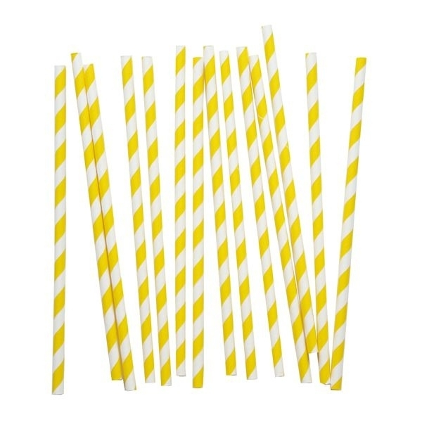 Paper Straws - Yellow