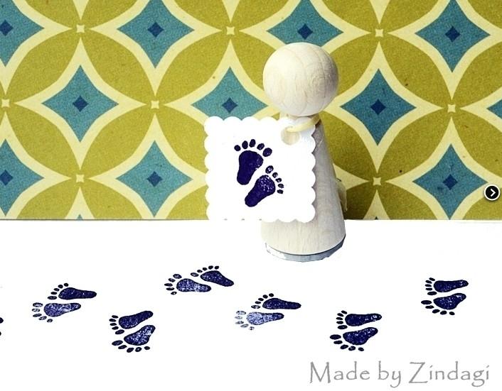 Mini stempel - Babyvoetjes