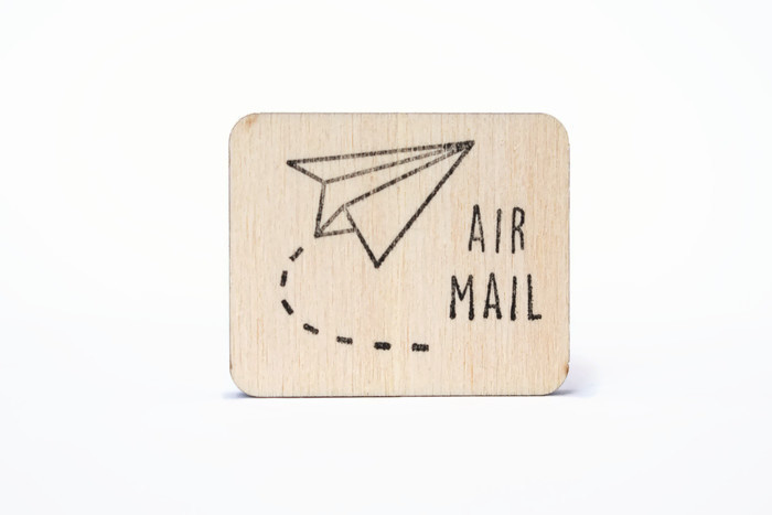 Stempel Air Mail - Studio Maas