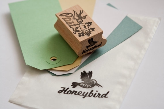 Stamp Bird with Airmail