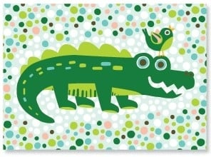 Postcard Crocodile