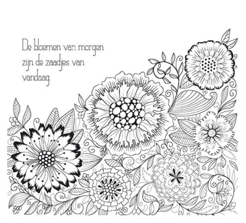 Kleurplaten Beterschap Bloemen.Feel Happy Natuur Kleurplaten Boeken Winkel Van Papier