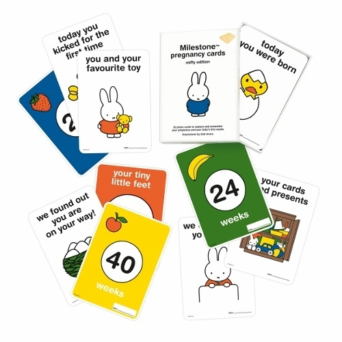 Milestone Baby Cards Miffy