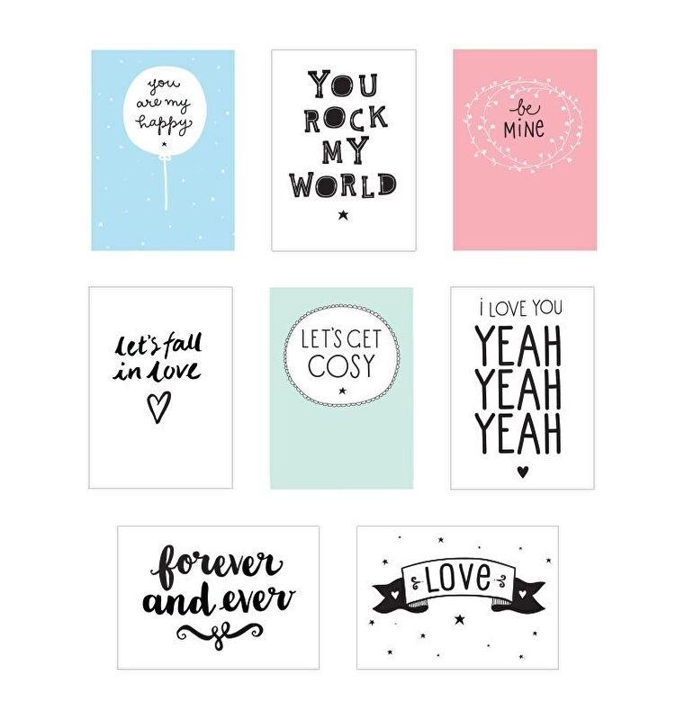 Lightbox Poster Sheets - Love