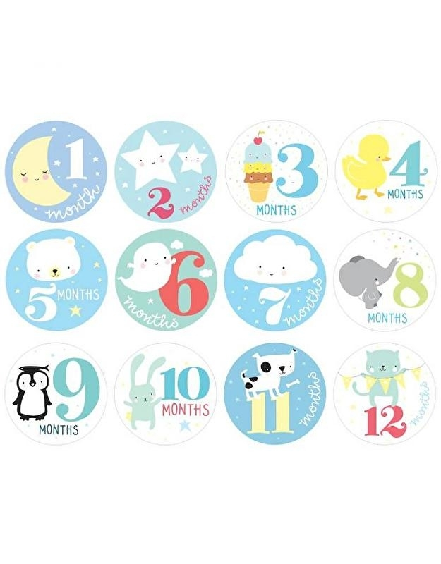 Milestone Stickers Little Boys
