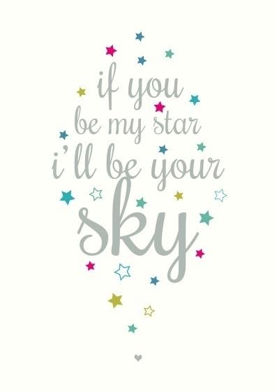 Postkaart Be My Star