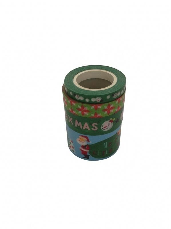 Masking Tape Kerst Set Xmas Kerstman .44